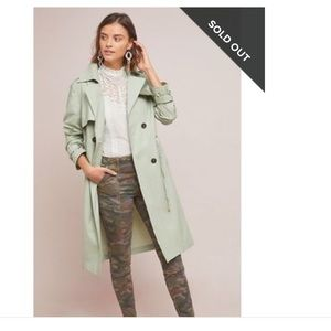 TheKorner mint green trench coat
